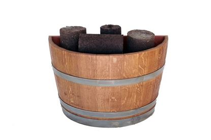 תמונה של רבע חבית יין לאחסון מעץ אלון