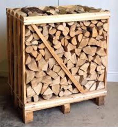 """תמונה של 1 קו""""ב של עץ הסקה  איירון ווד מסודר בכלוב עץ"""