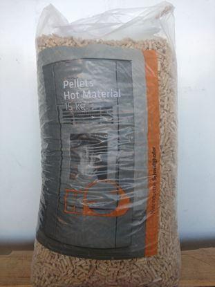 """תמונה של שק 15 ק""""ג כופתיות עץ HS אוסטריה DIN PLUS -PELLETS"""
